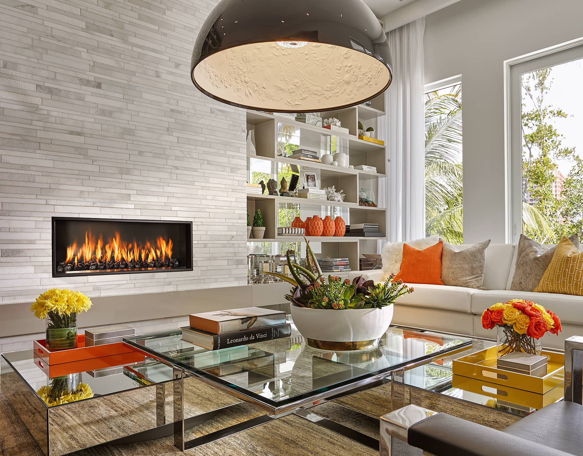 Contemporary-Living-Room-Fireplace-Miami-Beach-Interior-Photographer