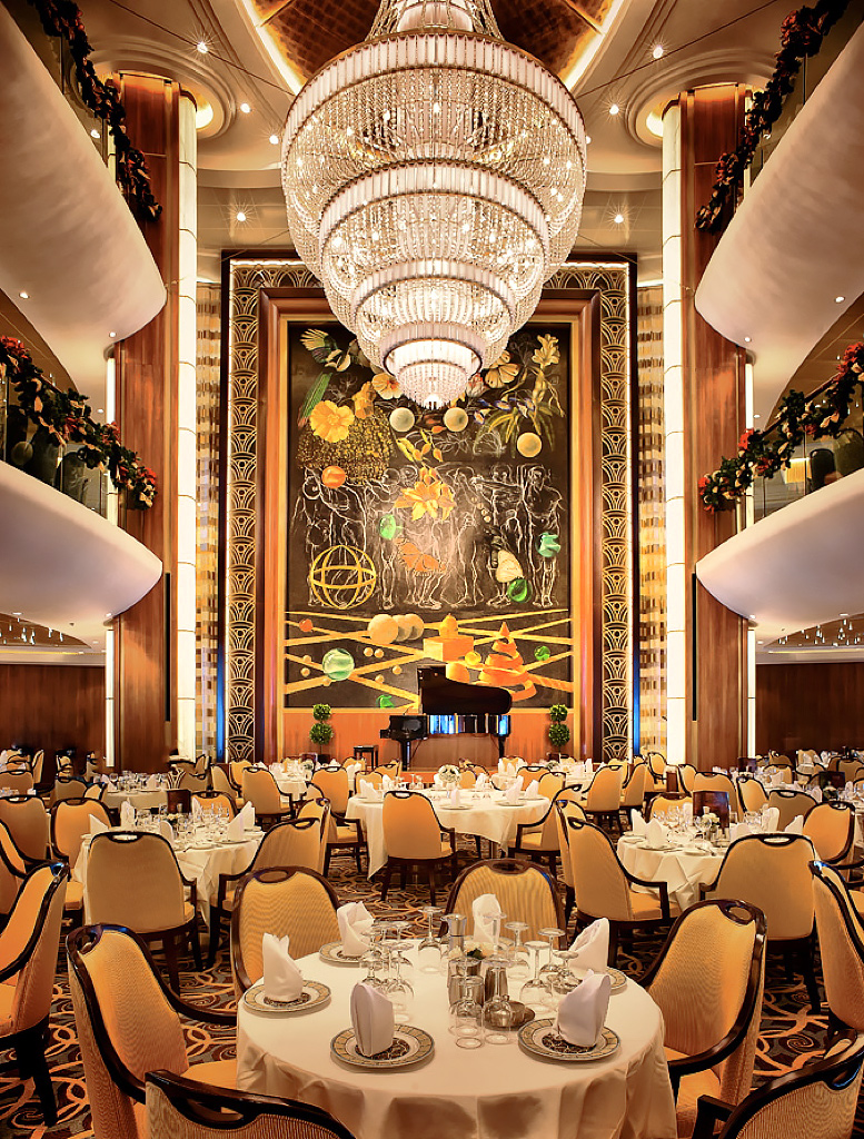 Cruise-Ship-Royal-Caribbean-Restaurant-Piano