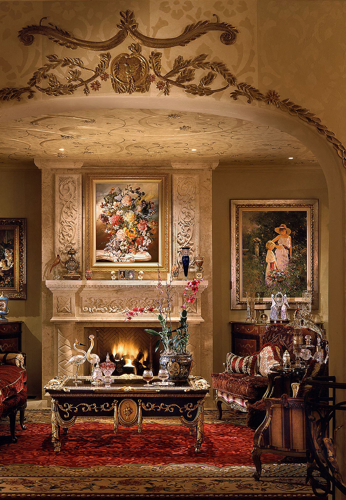 Interior-Photography-Classical-Fireplace