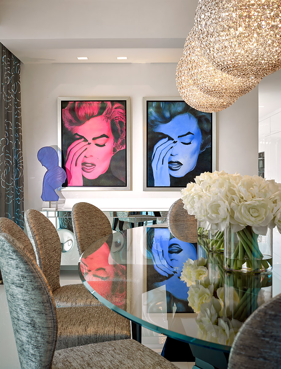 Modern-Art-Marilyn-Monroe-Interior-Dining